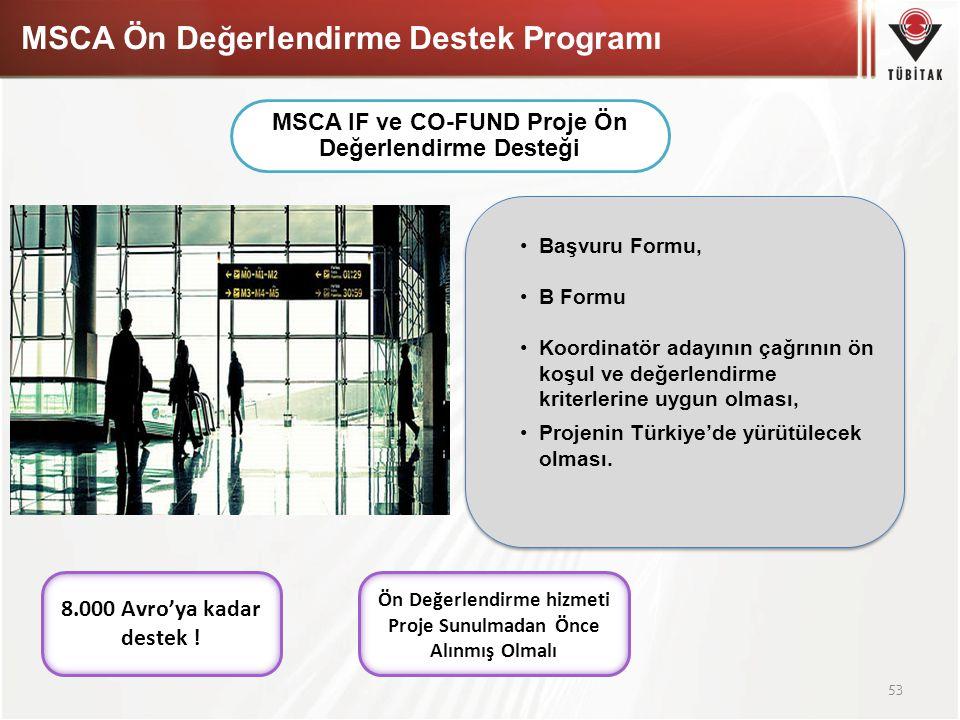 MSCA Ön Değerlendirme Destek Programı