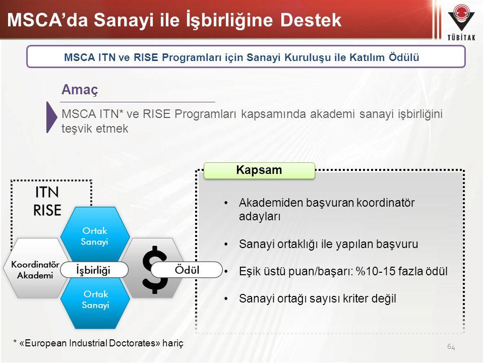 MSCA'da Sanayi ile İşbirliğine Destek