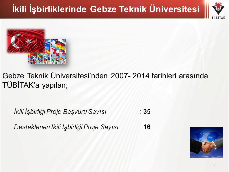 İkili İşbirliklerinde Gebze Teknik Üniversitesi