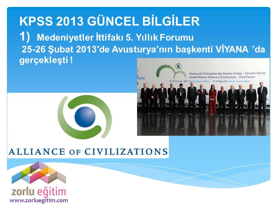 1) Medeniyetler İttifakı 5. Yıllık Forumu
