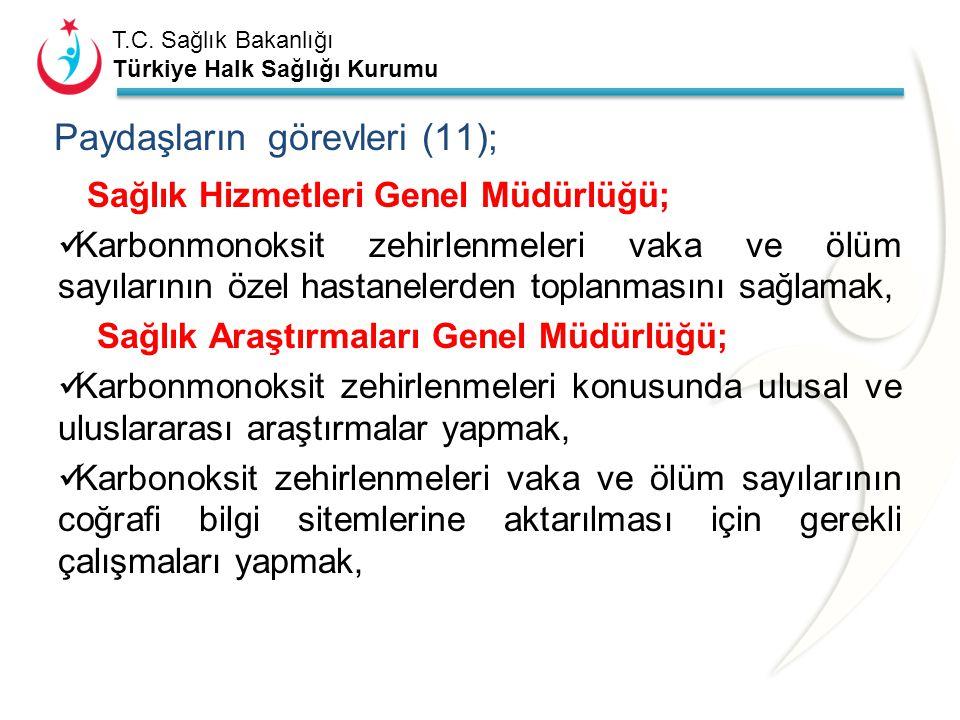 Paydaşların görevleri (11);
