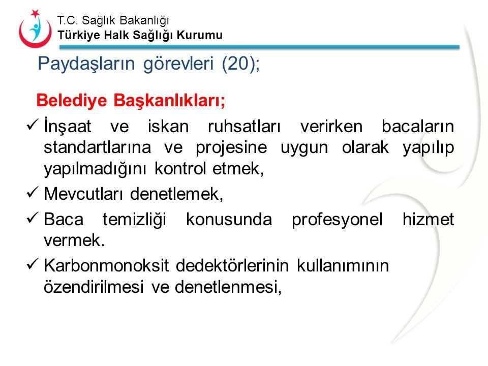 Paydaşların görevleri (20);