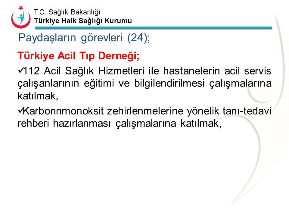 Paydaşların görevleri (24);