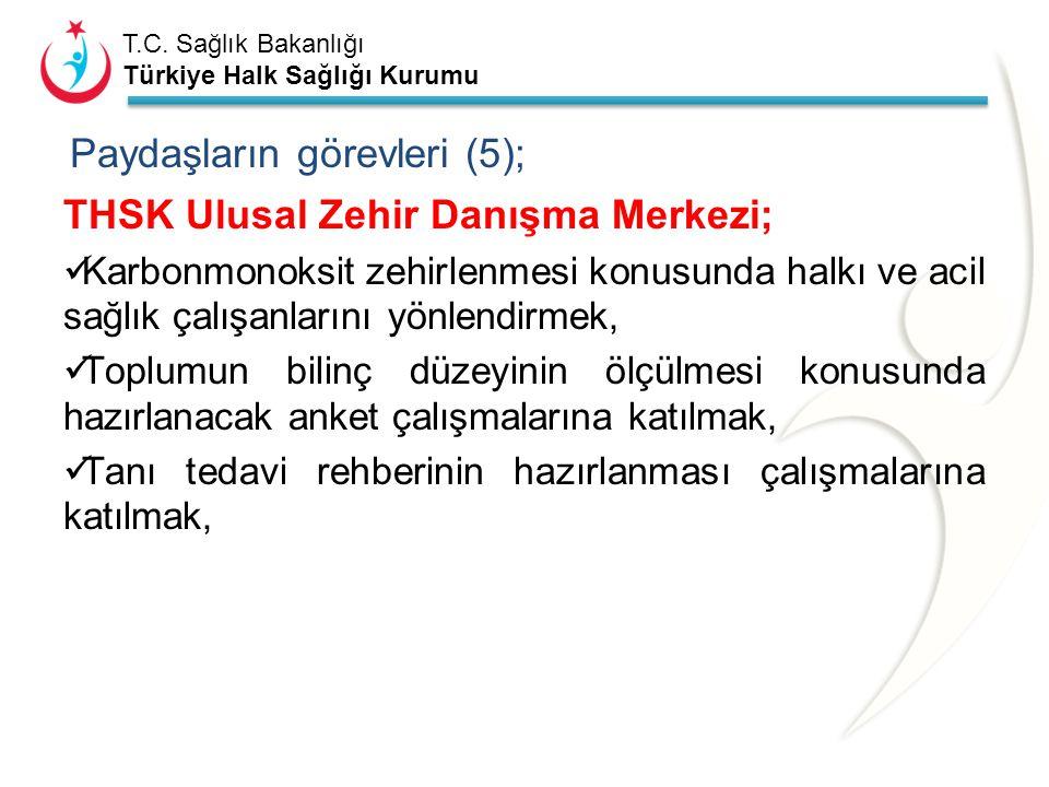 Paydaşların görevleri (5);