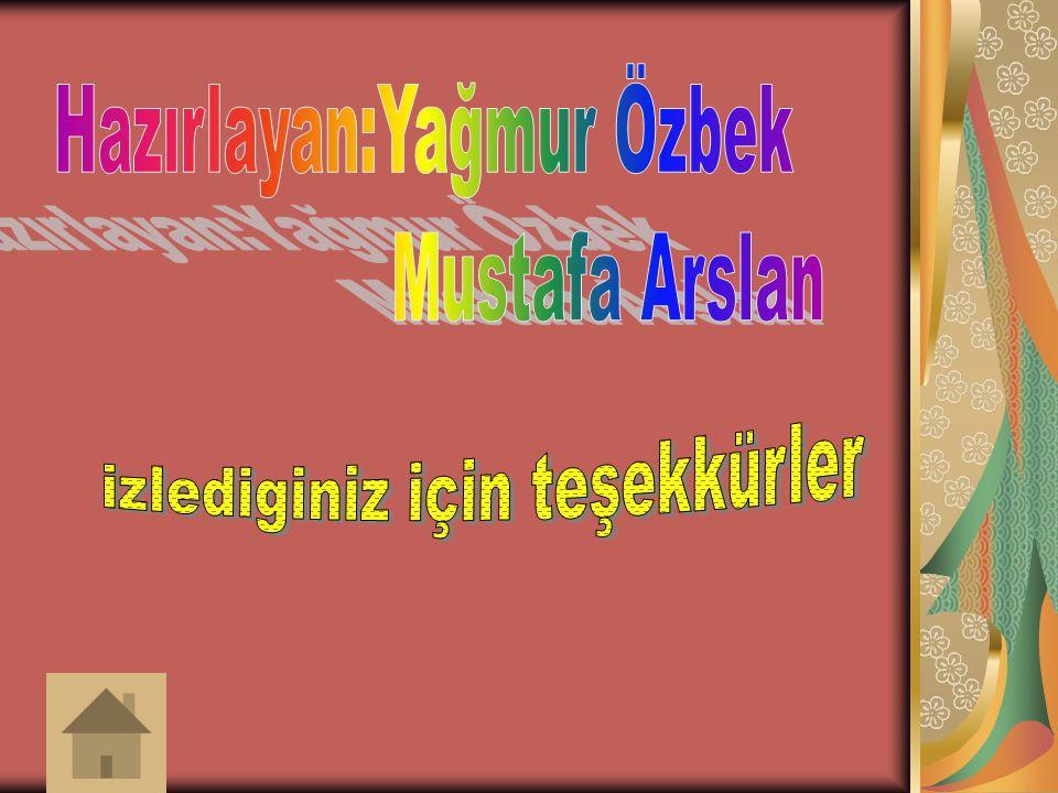 Hazırlayan:Yağmur Özbek Mustafa Arslan