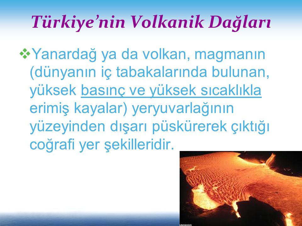 Türkiye'nin Volkanik Dağları