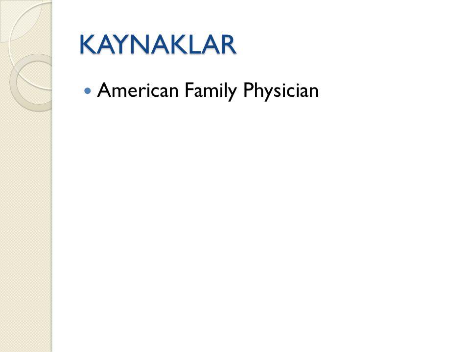 KAYNAKLAR American Family Physician