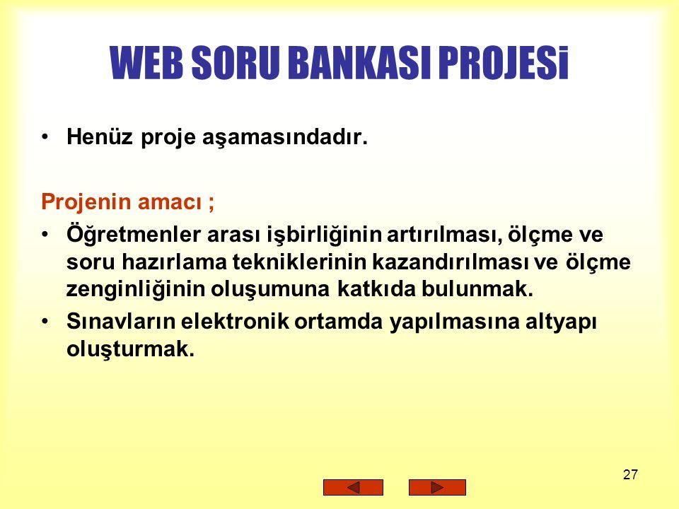 WEB SORU BANKASI PROJESi