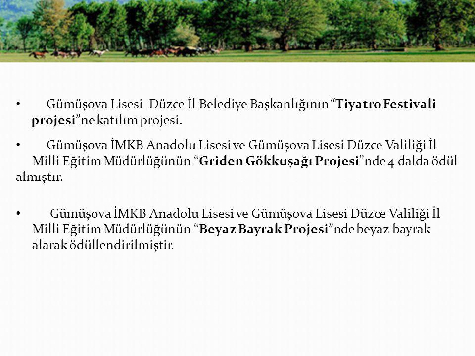 Gümüşova Lisesi Düzce İl Belediye Başkanlığının Tiyatro Festivali