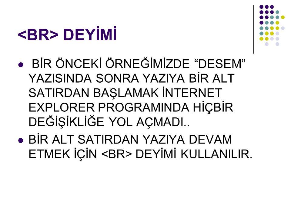 <BR> DEYİMİ