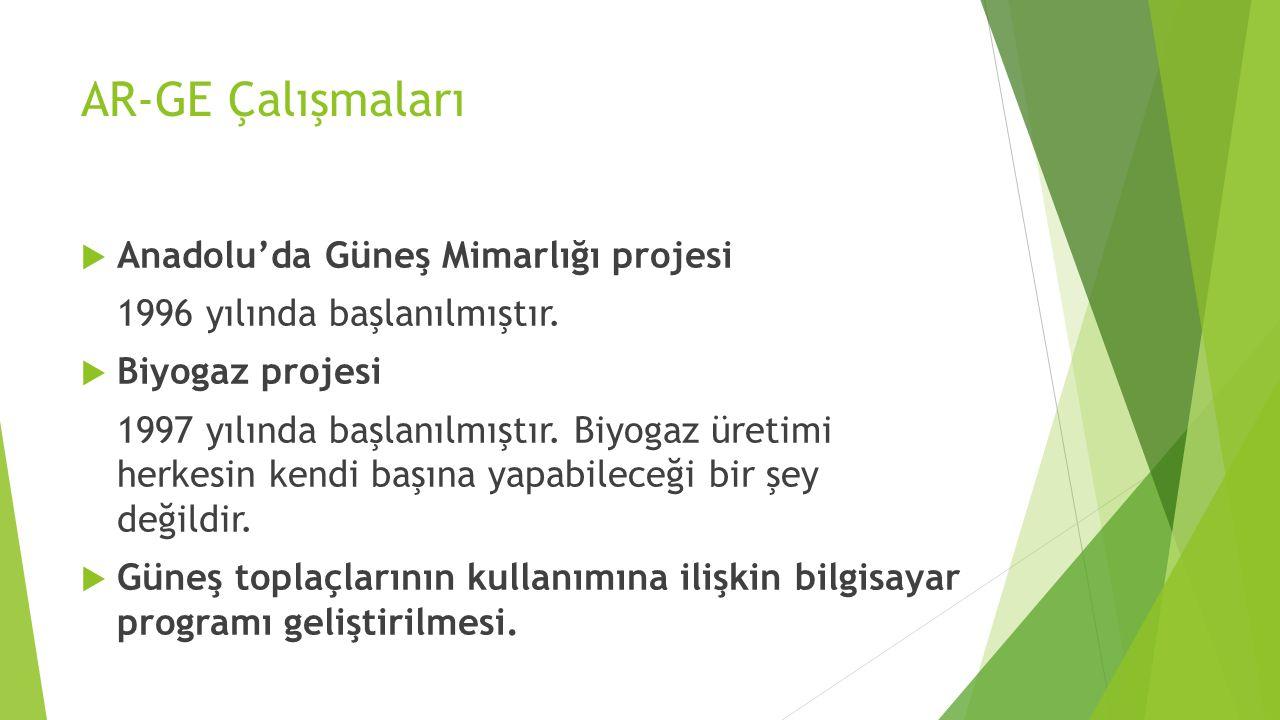AR-GE Çalışmaları Anadolu'da Güneş Mimarlığı projesi
