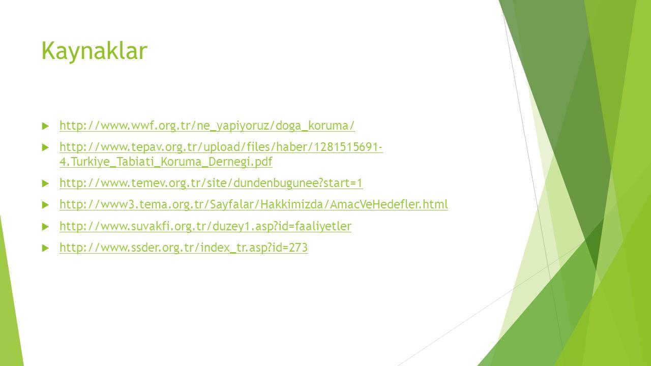 Kaynaklar http://www.wwf.org.tr/ne_yapiyoruz/doga_koruma/