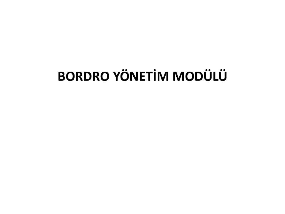 BORDRO YÖNETİM MODÜLÜ