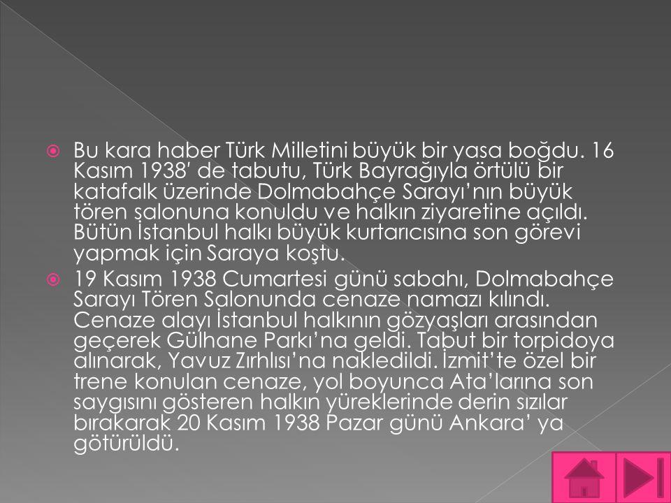 Bu kara haber Türk Milletini büyük bir yasa boğdu