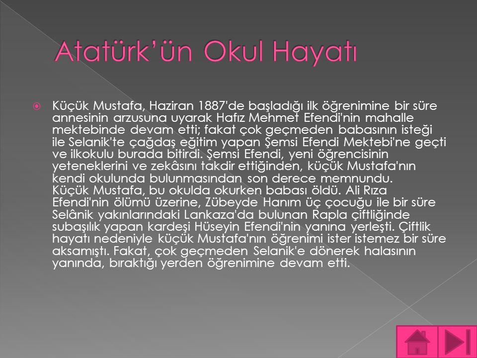Atatürk'ün Okul Hayatı