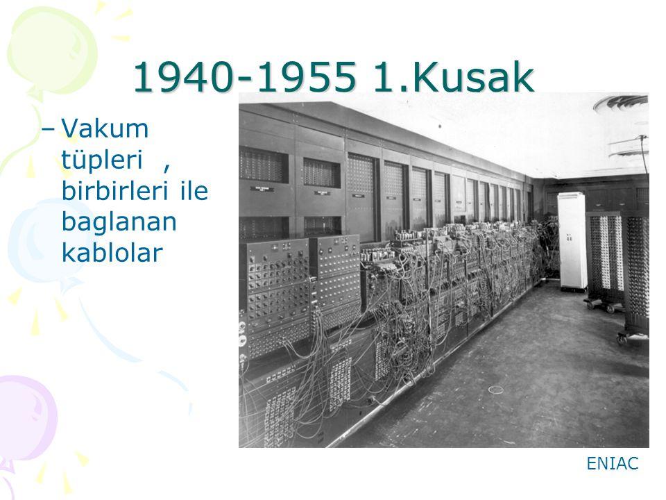1940-1955 1.Kuşak Vakum tüpleri , birbirleri ile baglanan kablolar