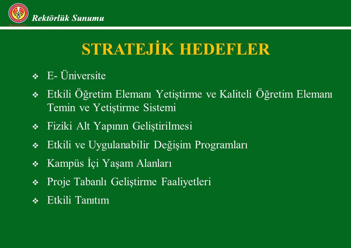 STRATEJİK HEDEFLER E- Üniversite