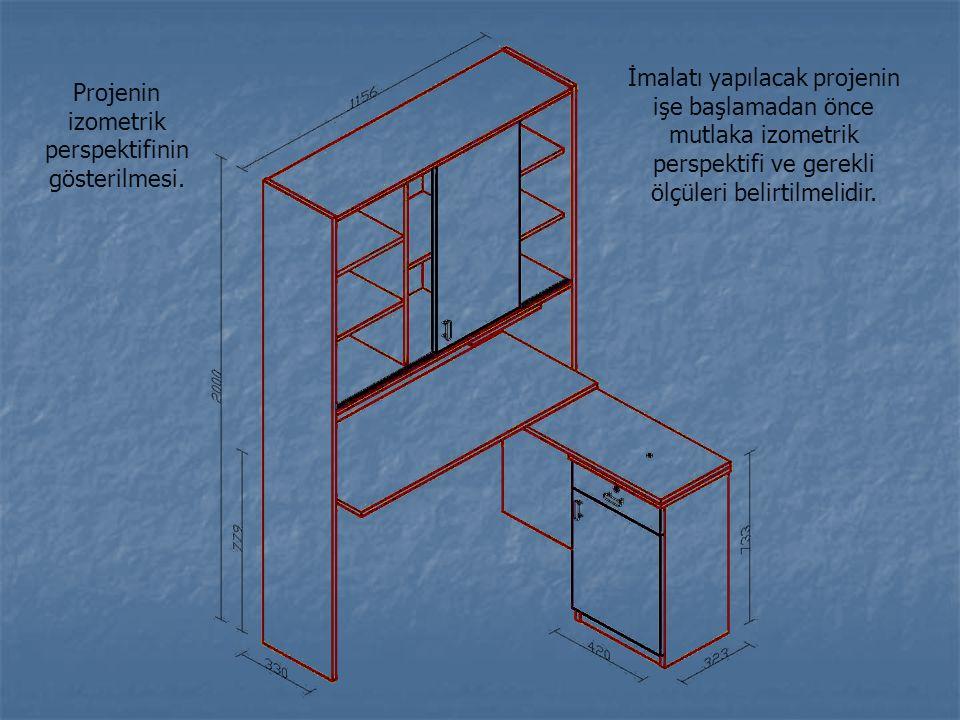 Projenin izometrik perspektifinin gösterilmesi.
