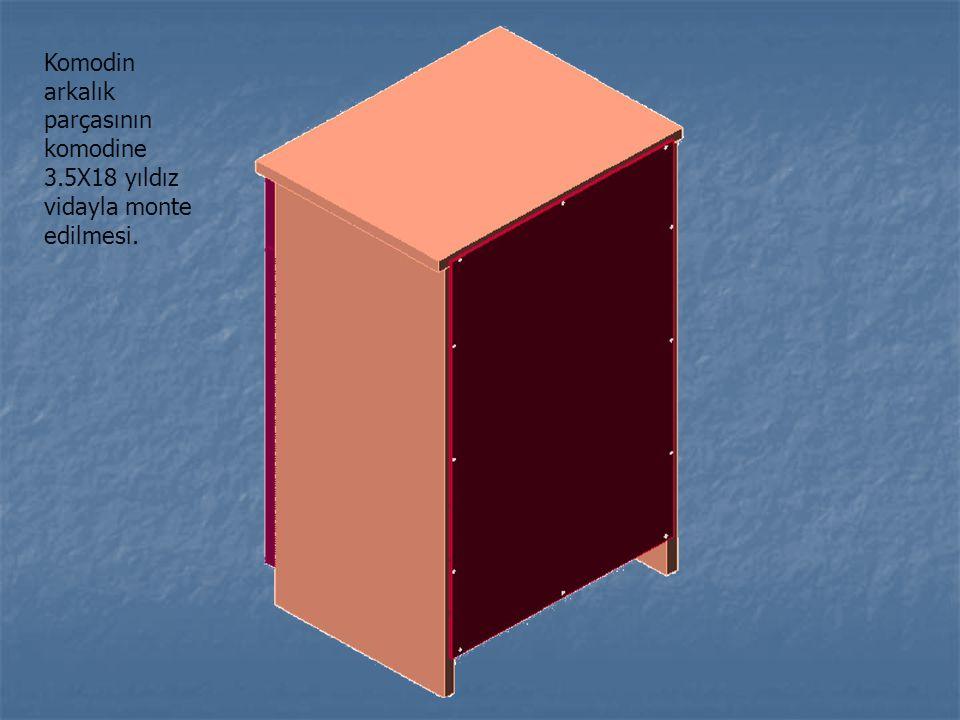 Komodin arkalık parçasının komodine 3