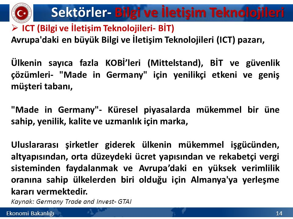 Sektörler- Bilgi ve İletişim Teknolojileri