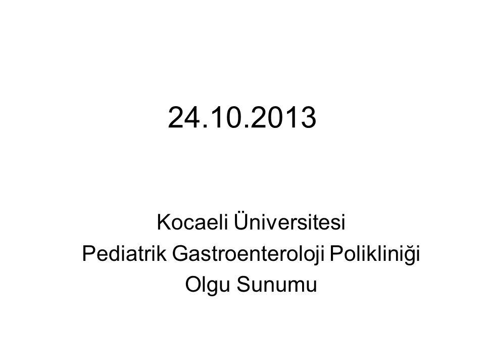 Pediatrik Gastroenteroloji Polikliniği
