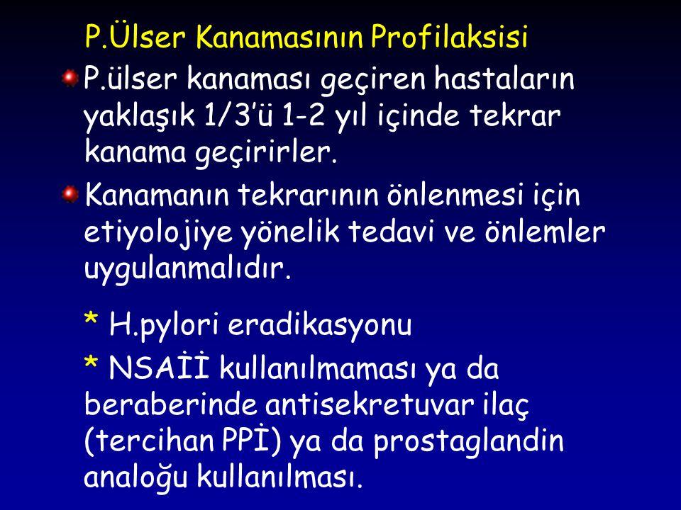 P.Ülser Kanamasının Profilaksisi