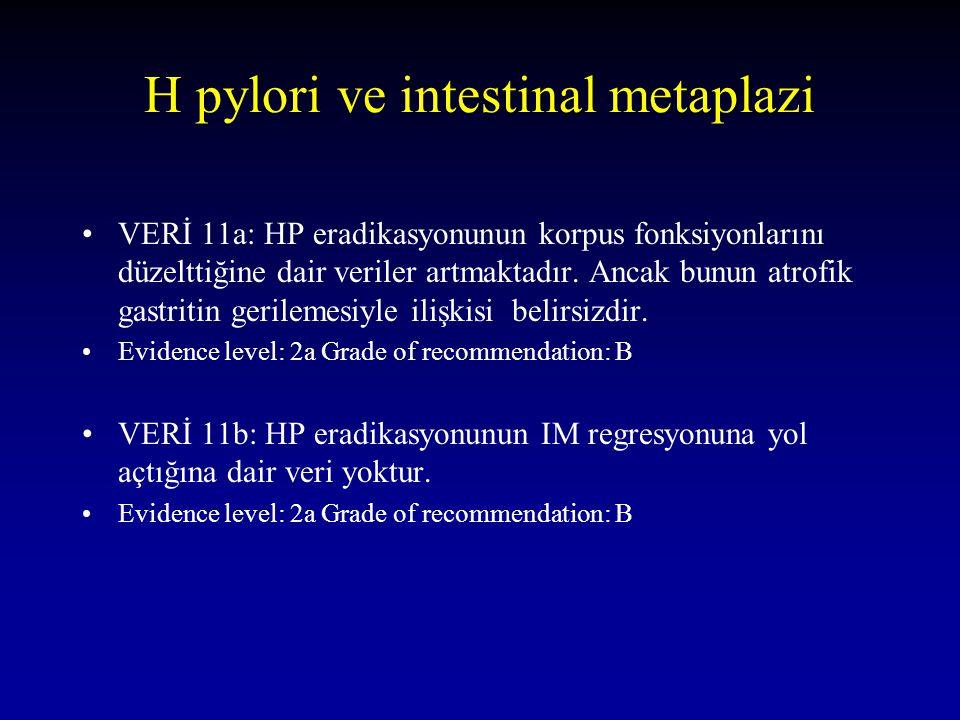 H pylori ve intestinal metaplazi