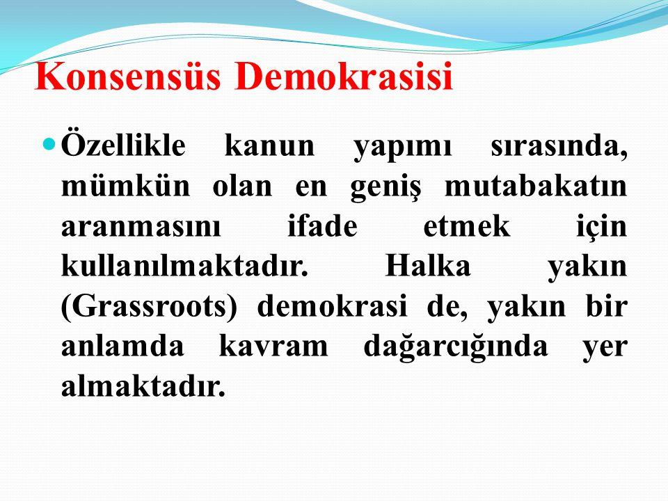 Konsensüs Demokrasisi