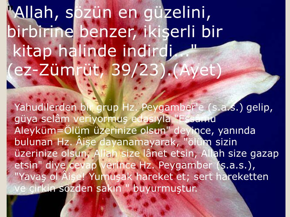 Allah, sözün en güzelini, birbirine benzer, ikişerli bir