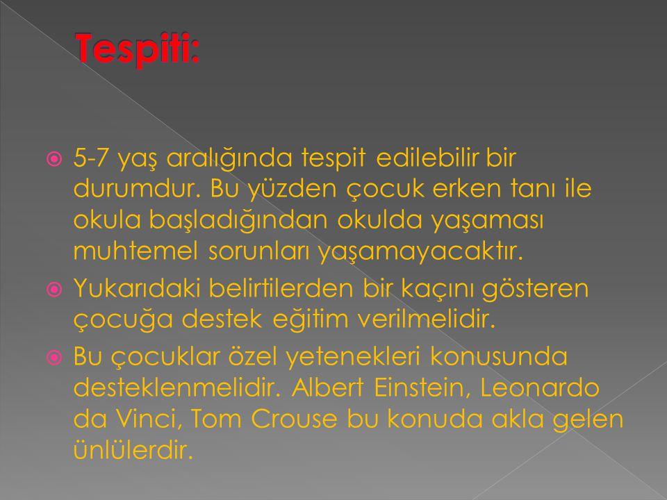 Tespiti: