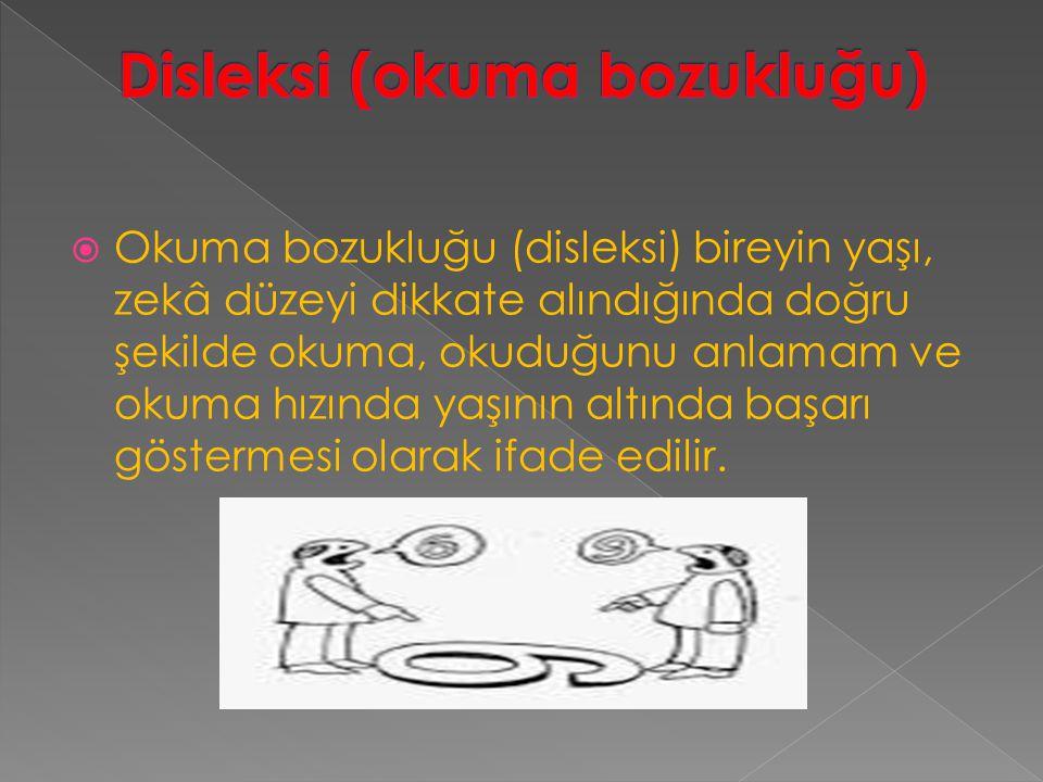 Disleksi (okuma bozukluğu)