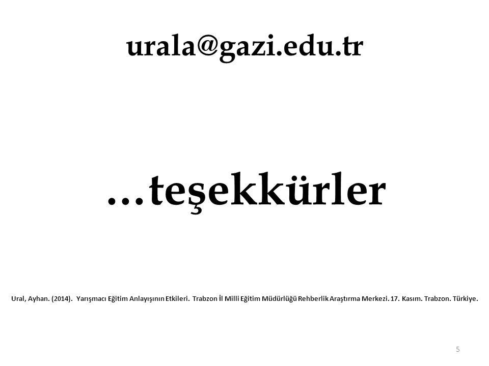 …teşekkürler urala@gazi.edu.tr