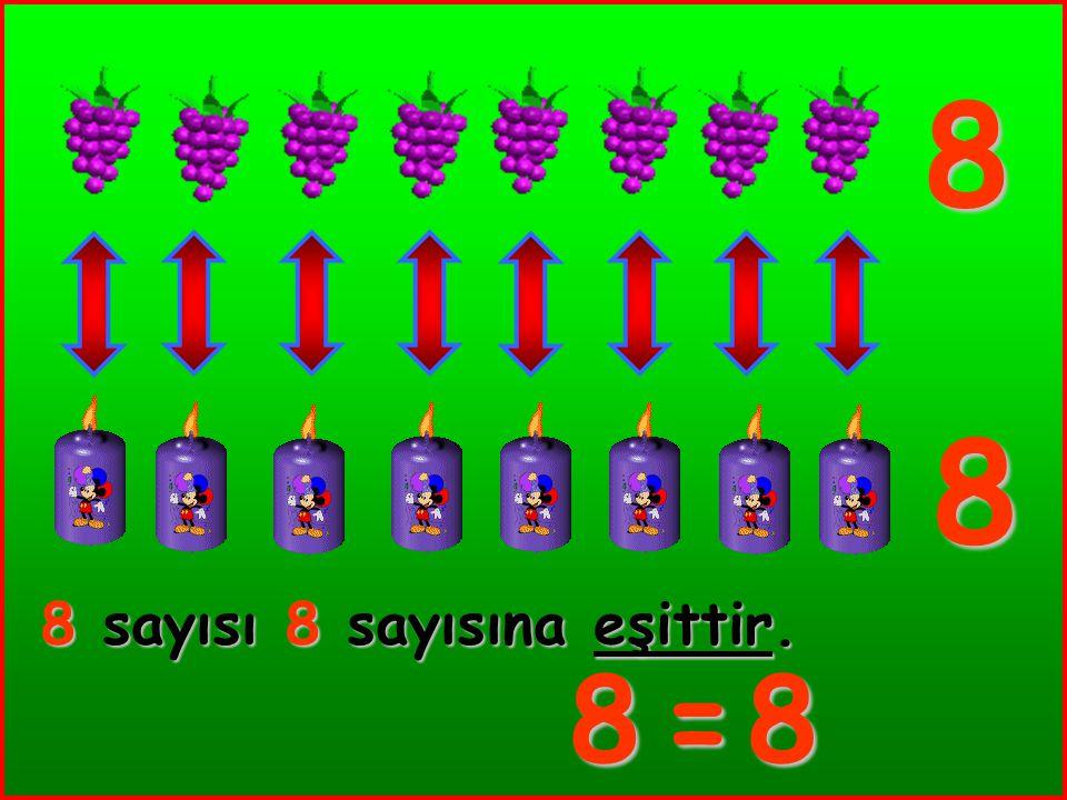 8 8 8 sayısı 8 sayısına eşittir. 8 = 8