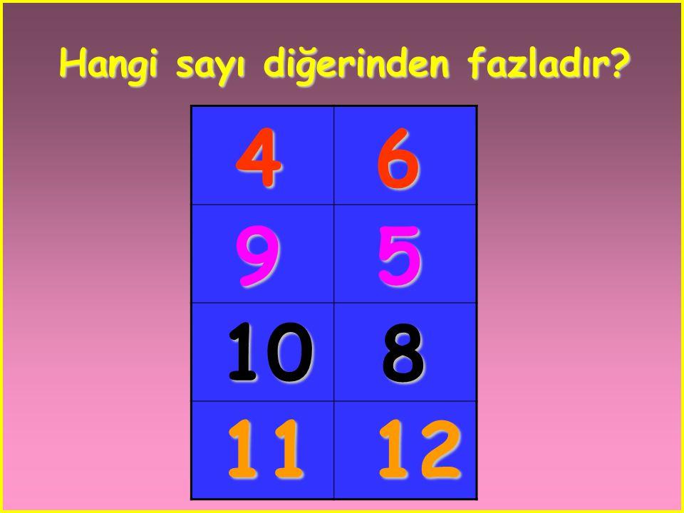 Hangi sayı diğerinden fazladır
