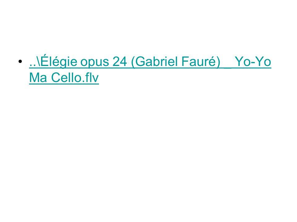 ..\Élégie opus 24 (Gabriel Fauré) _ Yo-Yo Ma Cello.flv
