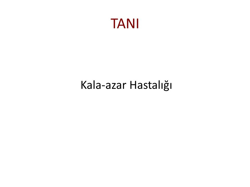TANI Kala-azar Hastalığı