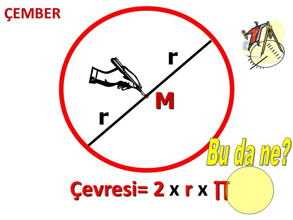 ÇEMBER r M r Bu da ne Çevresi= 2 x r x ∏