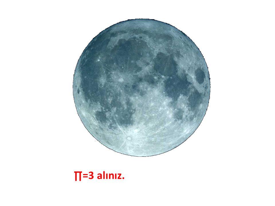 Ayın çapı 3475 km'dir. Ayın çevresi kaç km