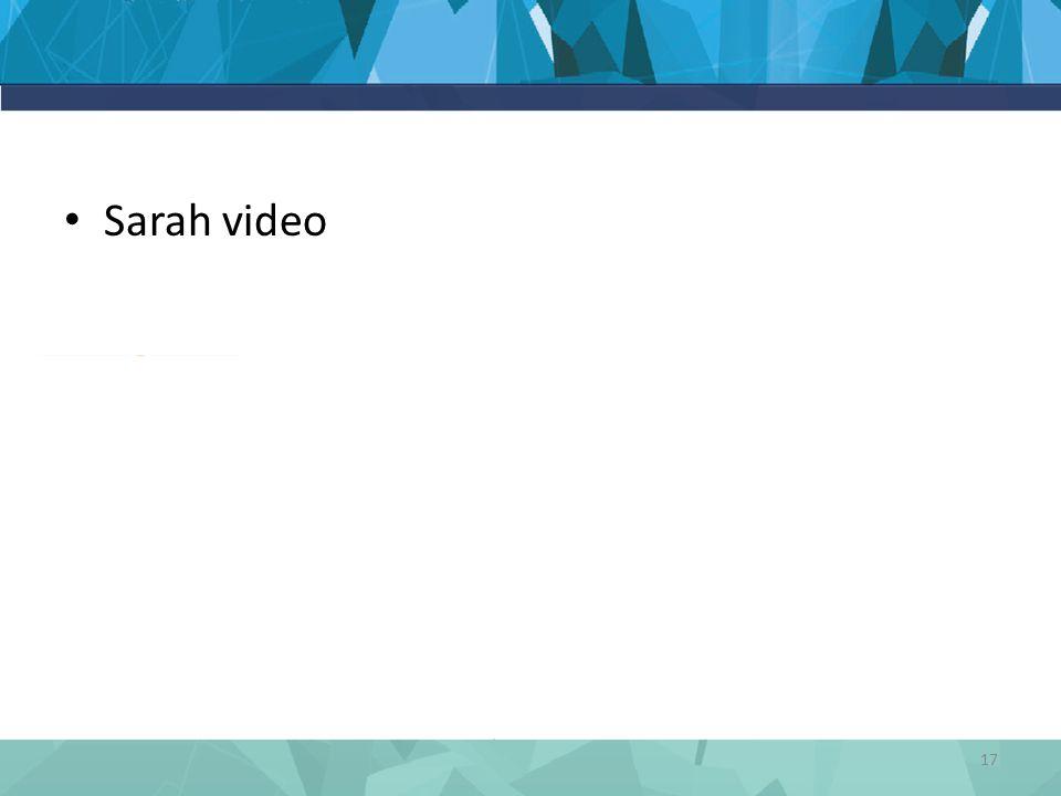Sarah video