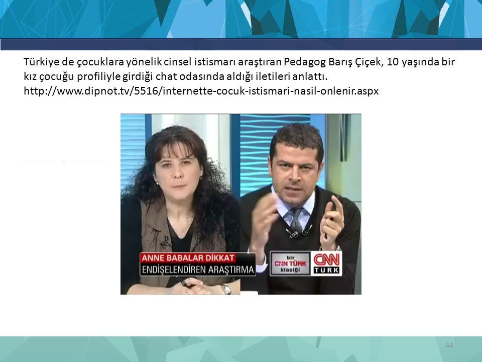 Türkiye de çocuklara yönelik cinsel istismarı araştıran Pedagog Barış Çiçek, 10 yaşında bir kız çocuğu profiliyle girdiği chat odasında aldığı iletileri anlattı.
