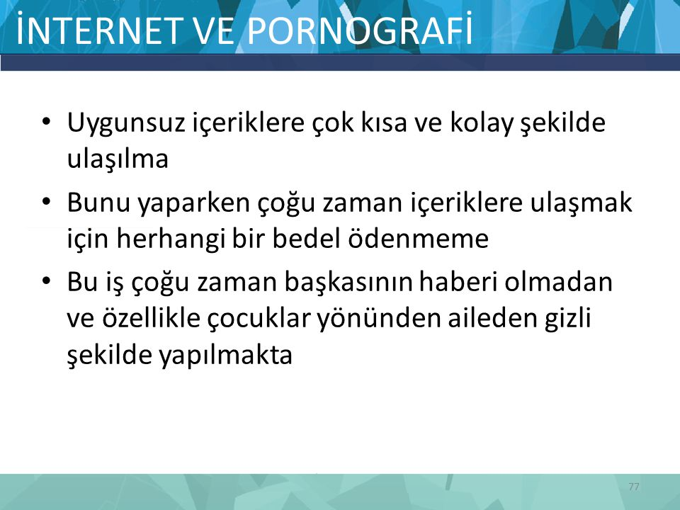 İNTERNET VE PORNOGRAFİ
