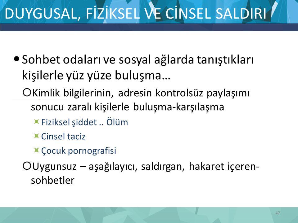 DUYGUSAL, FİZİKSEL VE CİNSEL SALDIRI