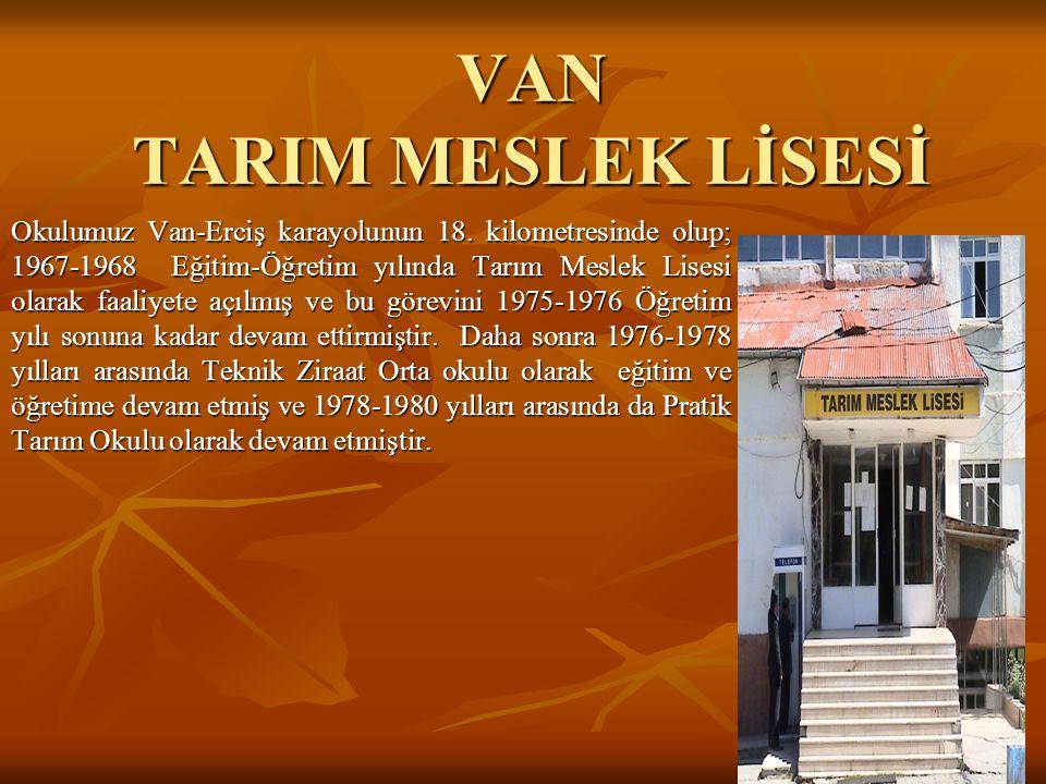VAN TARIM MESLEK LİSESİ