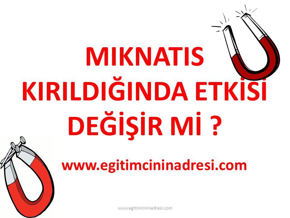 MIKNATIS KIRILDIĞINDA ETKİSİ DEĞİŞİR Mİ www.egitimcininadresi.com