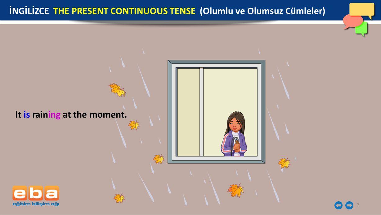 İNGİLİZCE THE PRESENT CONTINUOUS TENSE (Olumlu ve Olumsuz Cümleler)