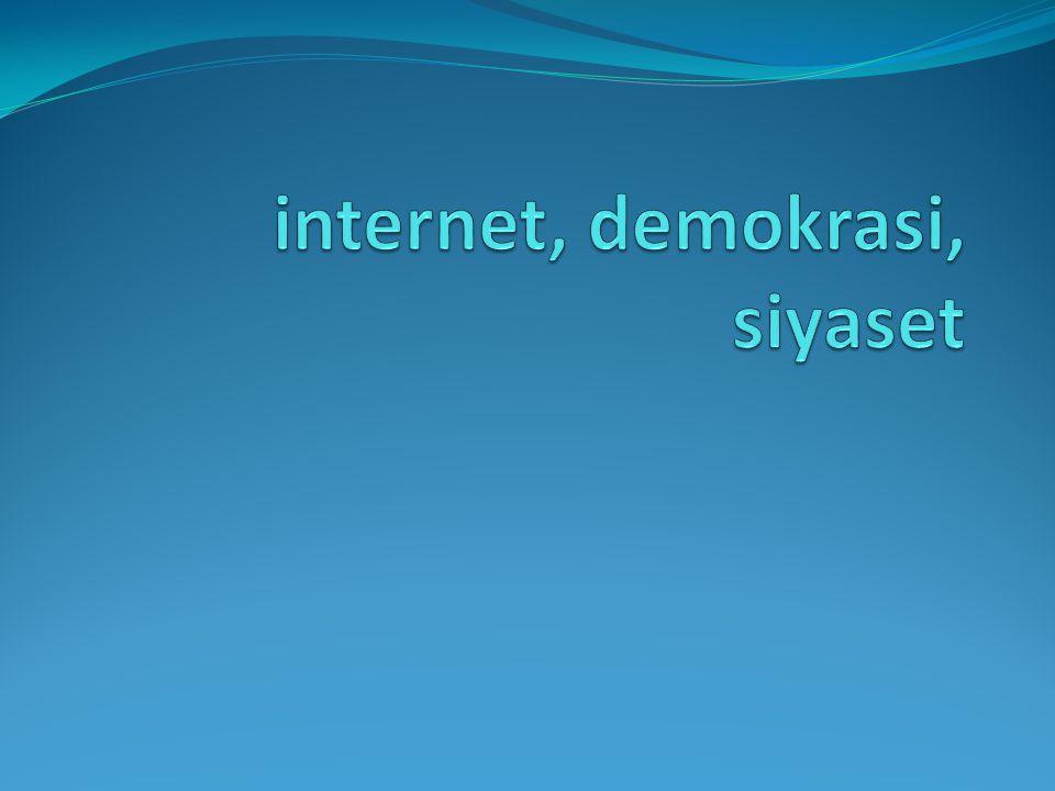 internet, demokrasi, siyaset