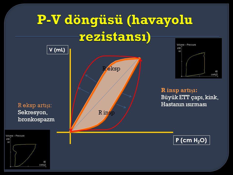 P-V döngüsü (havayolu rezistansı)