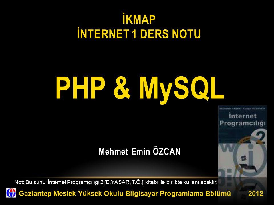 İKMAP İnternet 1 Ders Notu