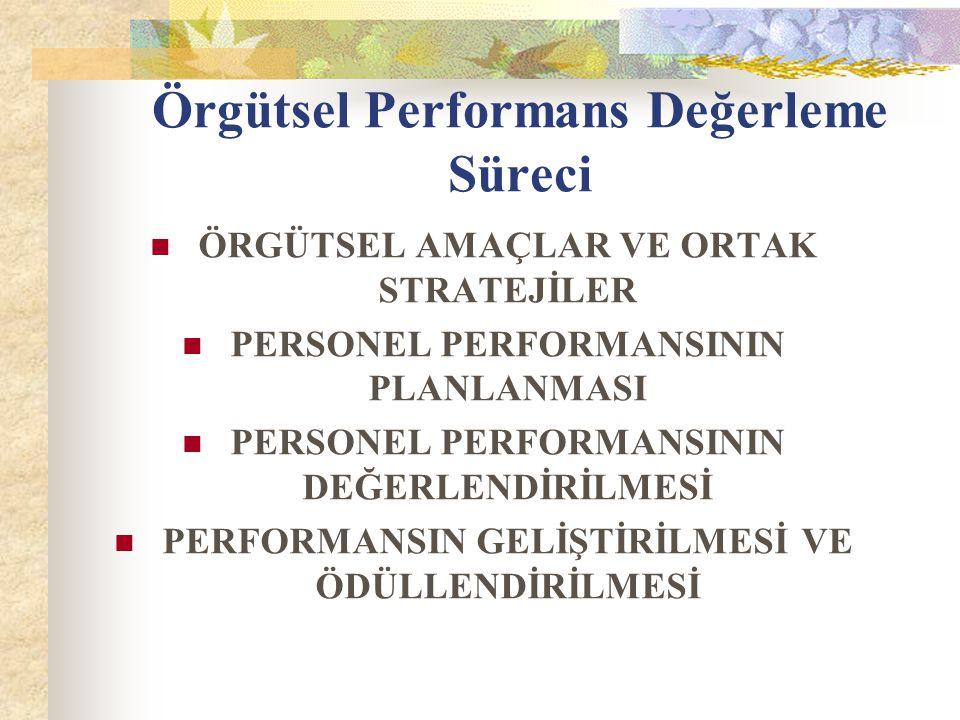 Örgütsel Performans Değerleme Süreci