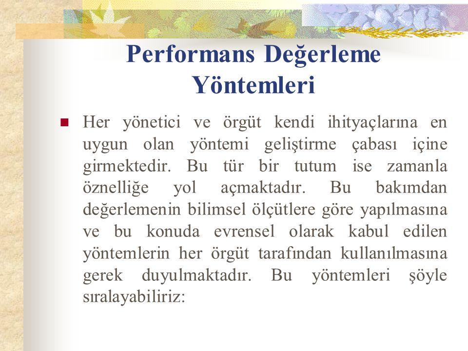 Performans Değerleme Yöntemleri